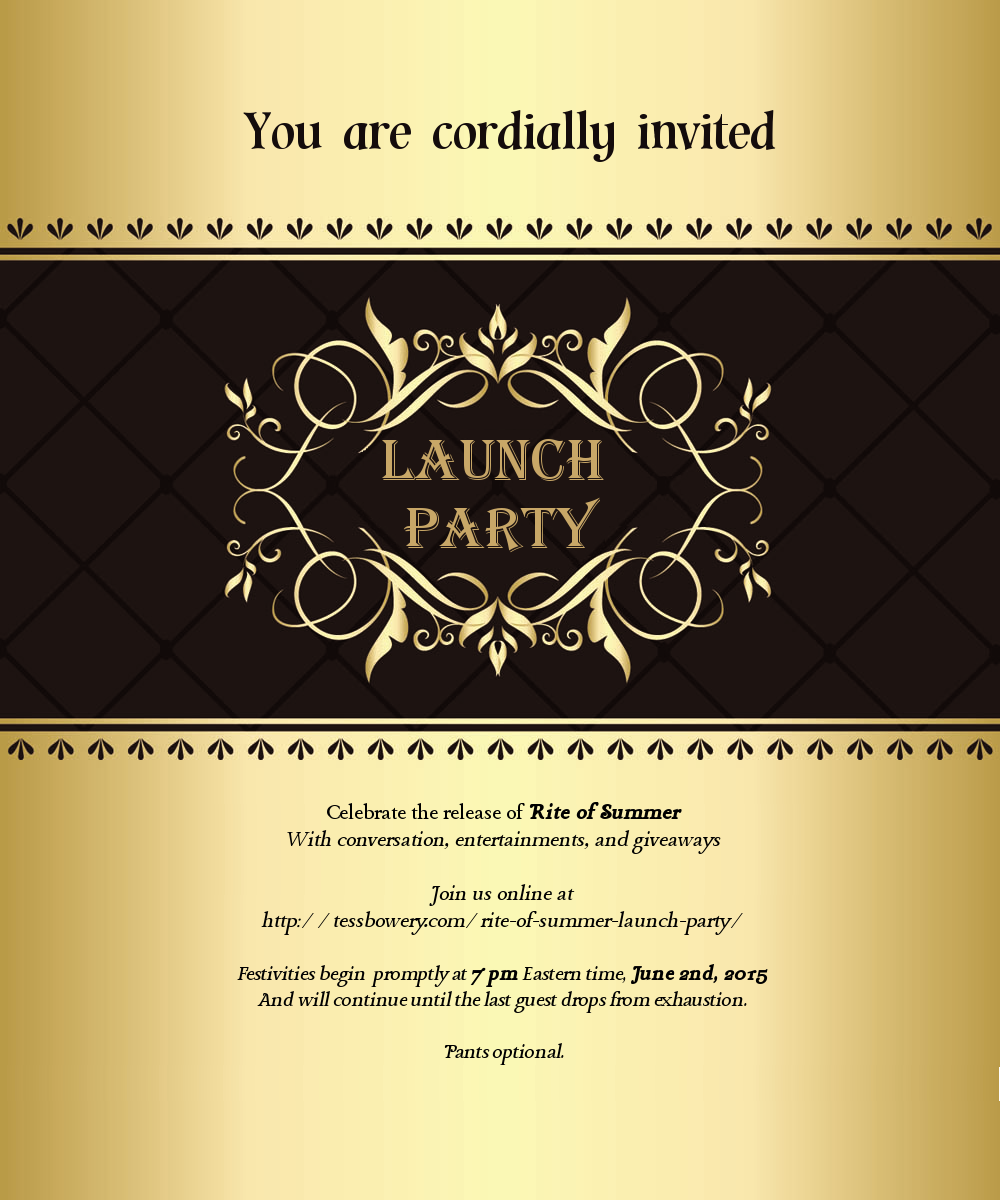 Blog – Launching Invitation Card